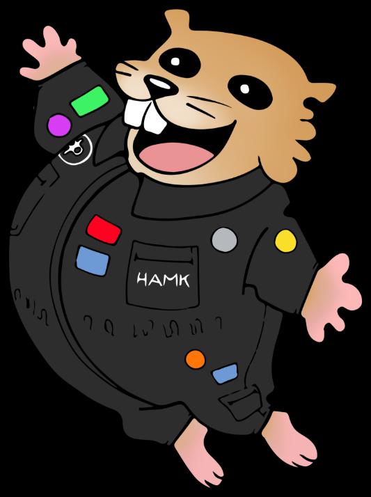 Hamkon maskotti nimeltään Hamksteri